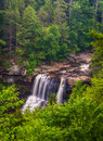 View of Blackwater Falls from the Gentle Trail, at Blackwater Fa Royalty Free Stock Photo