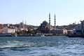 View of Blue mosque over sea Royalty Free Stock Photo