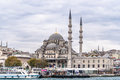 View on the blue mosque sultanahmet camii istanbul from sea turkey Royalty Free Stock Image
