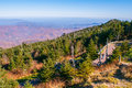 View of the Blue Ridge Mountains during fall season Royalty Free Stock Photo