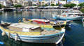 View of boats on the lake in greece beautiful Stock Images