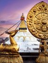 Bodnath stupa in Kathmandu Royalty Free Stock Photo