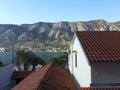 View of boko kotor bay in the fall montenegro Stock Image