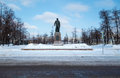 View of bolotnaya square in downtown moscow during winter time Stock Photography
