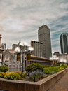 View of boston massachusetts looking toward the financial district Royalty Free Stock Image