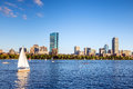 View of Boston Massachusetts Skyline Royalty Free Stock Photo