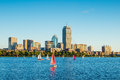 View of Boston Massachusetts Skyline Royalty Free Stock Photo