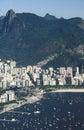 View of Botafogo district and Corcovado hill, Rio de Janeiro, Br Royalty Free Stock Photo