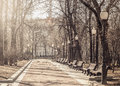 View of the boulevard spring morning in historical city center Royalty Free Stock Image