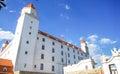 View of bratislava castle on blue sky sunny day slovakia june Stock Image