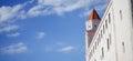 View of bratislava castle on blue sky sunny day slovakia june Royalty Free Stock Photos