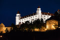 View of Bratislava Castle in night