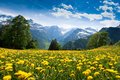 View from Braunwald Stock Photo