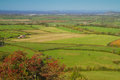 View from Brent Knoll Somerset towards the coast Royalty Free Stock Photo