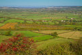 View from Brent Knoll towards Weston-super-Mare Royalty Free Stock Photo