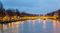 View of the bridge Louis-Philippe over the Seine Royalty Free Stock Photo