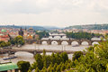 View of bridges in prague over vltava Royalty Free Stock Photo