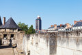 View of brittany tower from castle in nantes tour bretagne the dukes france Royalty Free Stock Photos