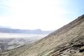 View from the bromo volcano near village of batu on java indonesia Royalty Free Stock Photo