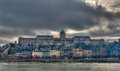 View of Buda Castle (Royal Palace) - Budapest Royalty Free Stock Photo