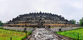 View of the Buddhist temple in Borobudur, Indonesia Royalty Free Stock Photo