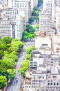 View of buildings and green areas in sao paulo brazil Royalty Free Stock Image