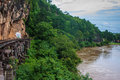 View of burma railway death and river khwae kwai thailand Royalty Free Stock Photos