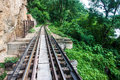View of burma railway death thailand Stock Photo