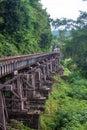 View of burma railway death thailand Royalty Free Stock Photos