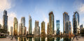 View of Business bay and Lake Tower, Dubai, UAE. Royalty Free Stock Photo