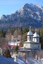 View in Busteni mountain town on Prahova valley in Romania Royalty Free Stock Photo