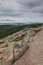 View from cadillac mountain in acadia np maine Stock Image