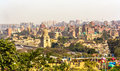 View of Cairo from Al-Azhar Park Royalty Free Stock Photo