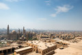 View of cairo slums from citadel egypt Stock Photos