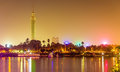 View of the Cairo tower in the evening Royalty Free Stock Photo