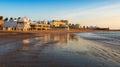 View of Caleta Beach in Cadiz, Spain