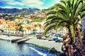 View of Camara de Lobos, small fisherman village, Madeira Royalty Free Stock Photo