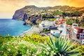 View of Camara de Lobos, small village on Madeira island Royalty Free Stock Photo