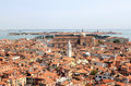 View from the Campanile in Venice to north, Italy Stock Photography