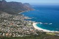 View of Camps Bay from Lions Head Mountain Stock Image