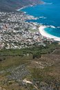 View of Camps Bay from Lions Head Mountain Royalty Free Stock Image