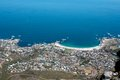 View of Camps Bay from Lions Head Mountain Stock Photography