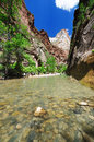 The View of Canyon Junction at Zion Royalty Free Stock Image