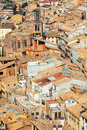 View of cardona roofs from castle catalonia Royalty Free Stock Photography