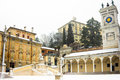 View castel piazza libertã  winter snow Royalty Free Stock Photo