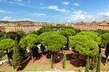 View from Castel Sant'Angelo on Parco Adriano. Rome, Italy. Royalty Free Stock Photo
