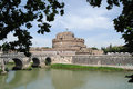 View of the Castel Sant'Angelo. Rome Stock Photo
