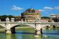 View of castel Sant' Angelo - Rome Royalty Free Stock Photo