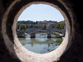 View from Castel Sant`Angelo in Rome Royalty Free Stock Photo