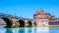 View of Castel Sant`Angelo in Rome, Italy Royalty Free Stock Photo